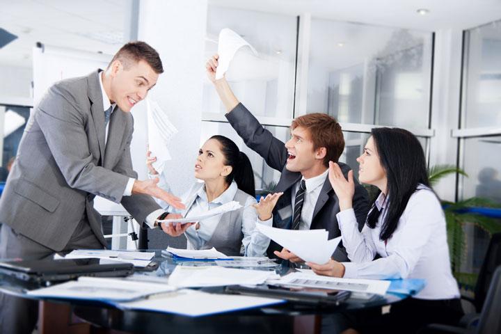 Konflikt im Meeting